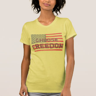 """Choose Freedom""  Ladie's Yellow T-Shirt"
