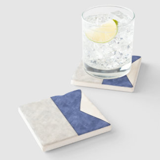 Choose from 26 Watercolor Nautical Maritime Flags Stone Coaster