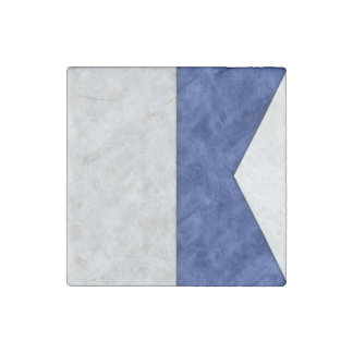 Choose from 26 Watercolor Nautical Maritime Flags Stone Magnet