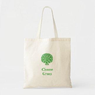 Choose Green Tote Bag