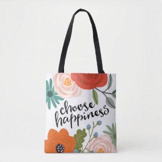 Choose Happiness All Over Print Bag