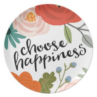 Choose Happiness Melamine Plate