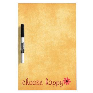 Choose Happy Affirmation Dry Erase Whiteboards