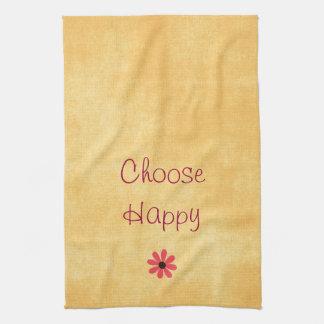 Choose Happy Affirmation Hand Towels