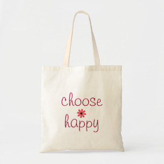Choose Happy Affirmation Tote Bag