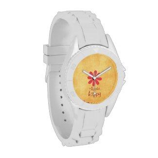 Choose Happy Affirmation Wrist Watch