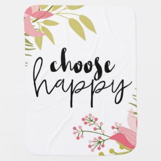 Choose Happy Baby Blanket