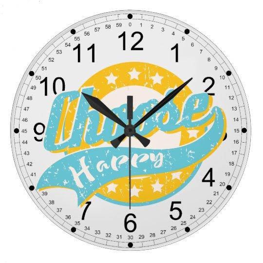 Choose Happy Large Clock