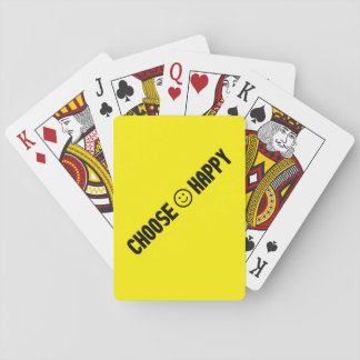 Choose Happy Playing Cards