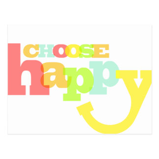 Choose happy quote postcard