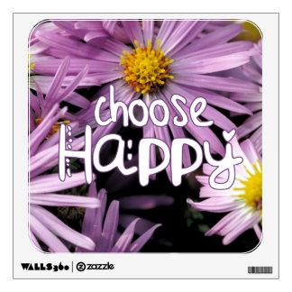 Choose Happy Room Sticker