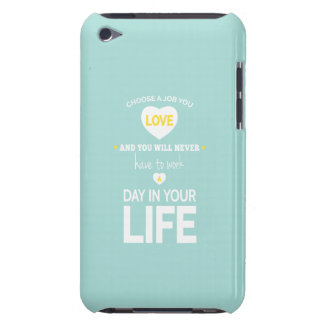 Choose Job Inspirational Message Teal iPod Touch Cases