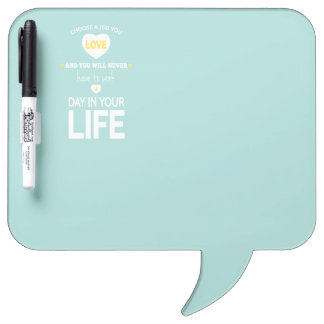 Choose Job Teal Inspirational Quote Dry Erase Whiteboards