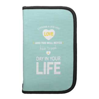 Choose Job Teal Inspirational Quote Folio Planners
