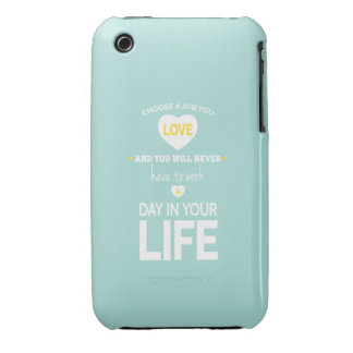 Choose Job Teal Inspirational Quotes Case-Mate iPhone 3 Case
