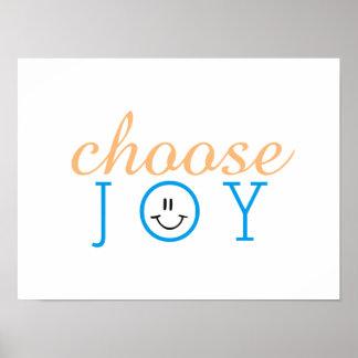 Choose Joy Happy Face Poster