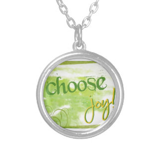 Choose Joy Silver Plated Necklace