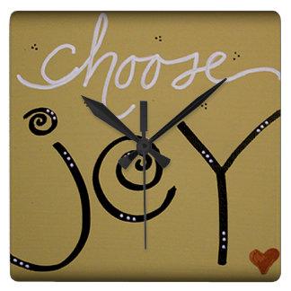 Choose Joy Square Wall Clock