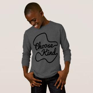 Choose kind T-shirt grey color