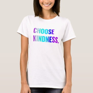 Choose Kindness T-Shirt Purple/Blue Lettering