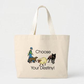 Choose Large Tote Bag