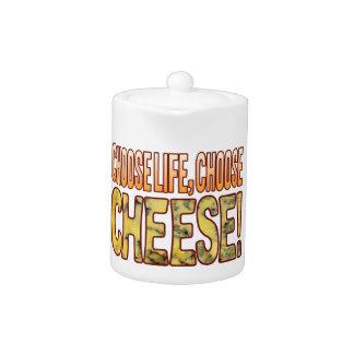 Choose Life Blue Cheese Teapot