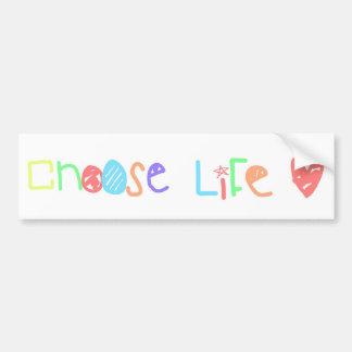 Choose Life Bumper Sticker