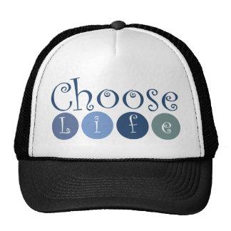 Choose Life Circles Hats