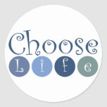Choose Life Circles Sticker