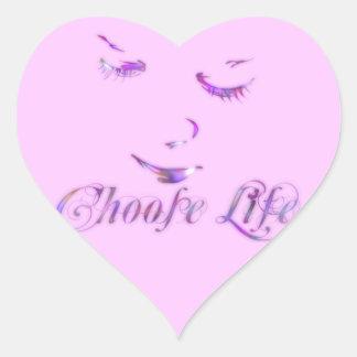 Choose Life Heart Sticker