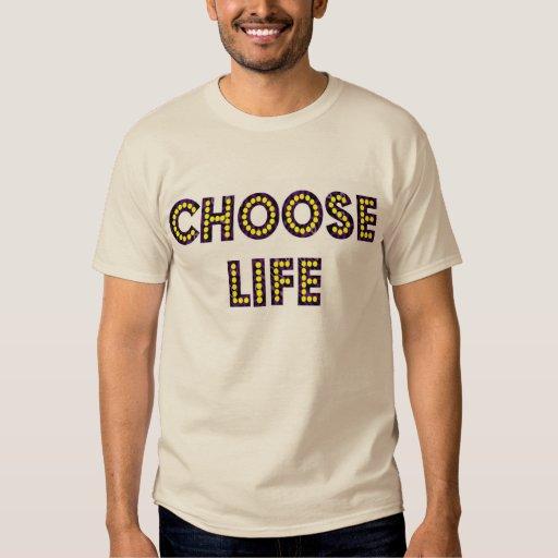 Choose Life Neon Letters Tee Shirt