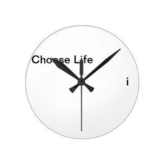 Choose Life Round Clock
