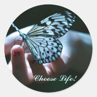 Choose Life! Round Stickers