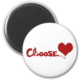 Choose Love 2 Inch Round Magnet