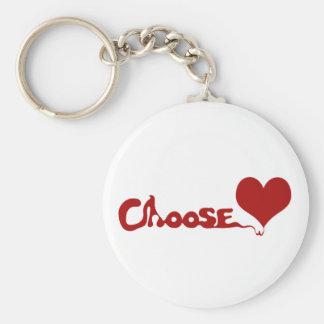 Choose Love Basic Round Button Keychain