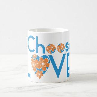 Choose Love - Funny Christmas Gift - Orange Flower Coffee Mug