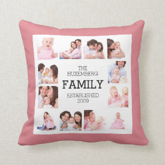 Choose Main Color Custom Family Photos Pillow