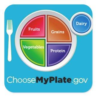 Choose My Plate (Blue) Stickers sticker