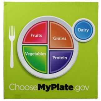Choose My Plate (Green) Cloth Napkins