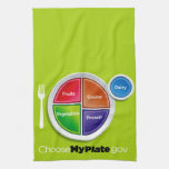 Choose My Plate (Green) Kitchen Towel