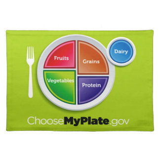Choose My Plate (Green) Placemat Cloth Placemat