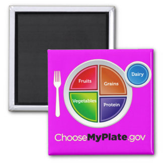 Choose My Plate (Pink) Magnet