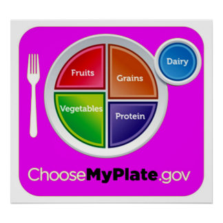 Choose My Plate Pink Poster (21 sizes)