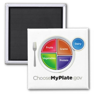 Choose My Plate (White) Magnet