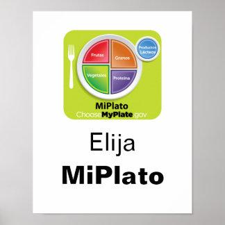 Choose MyPlate Spanish Poster - Elija MiPlato