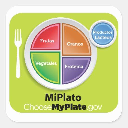 Choose MyPlate Spanish Sticker - MiPlato