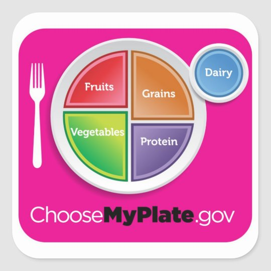 Choose MyPlate Sticker - Magenta