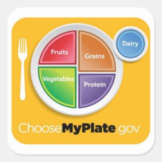 Choose MyPlate Sticker - Orange