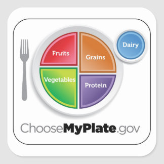 Choose MyPlate Sticker - White
