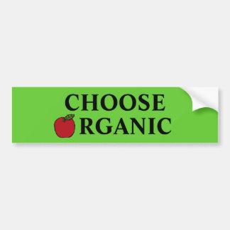 Choose Organic Car Bumper Sticker